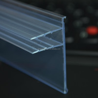8mm thickness shelf supermarket plastic product for glass shelf DS-1017