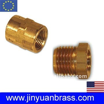 Brass Bushing fitting with thread coupling connector