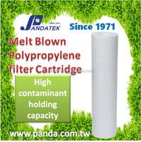 100 percentage Pure Polypropylene material Slim Pp Spun Filter Cartridge Cheap Melt Blown Water Filter Cartridge