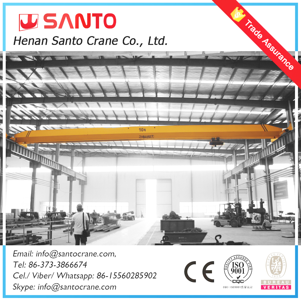 Safe Driving radio control electric 20 ton ld model for space limited overhead crane
