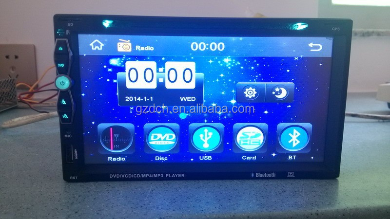cheap price 6.95 inch 2 din car dvd player with gps navigation WS-4695
