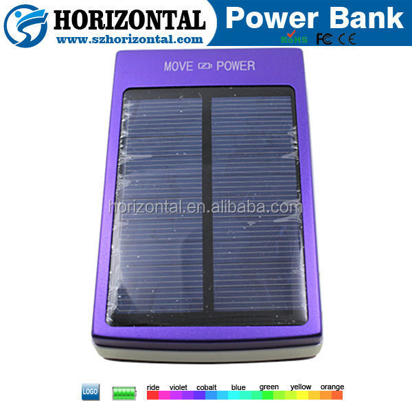 15000mAh solar power bank rohs solar cell phone charger universal portable cell phone charger