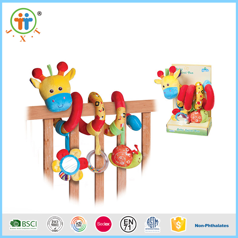 Alibaba best sellers baby hanging bed plush doll rattle toys for sale