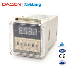 DAQCN Alibaba DH48S-S Time Delay Relay 0.1s-99 Hour Digital Twin Timer