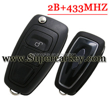 Best price Genuine 2 button flip remote key with 433mhz for Ford