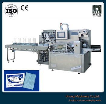 Horizontal Four Side Seal Disposable Surgical Gowns Packaging Machine