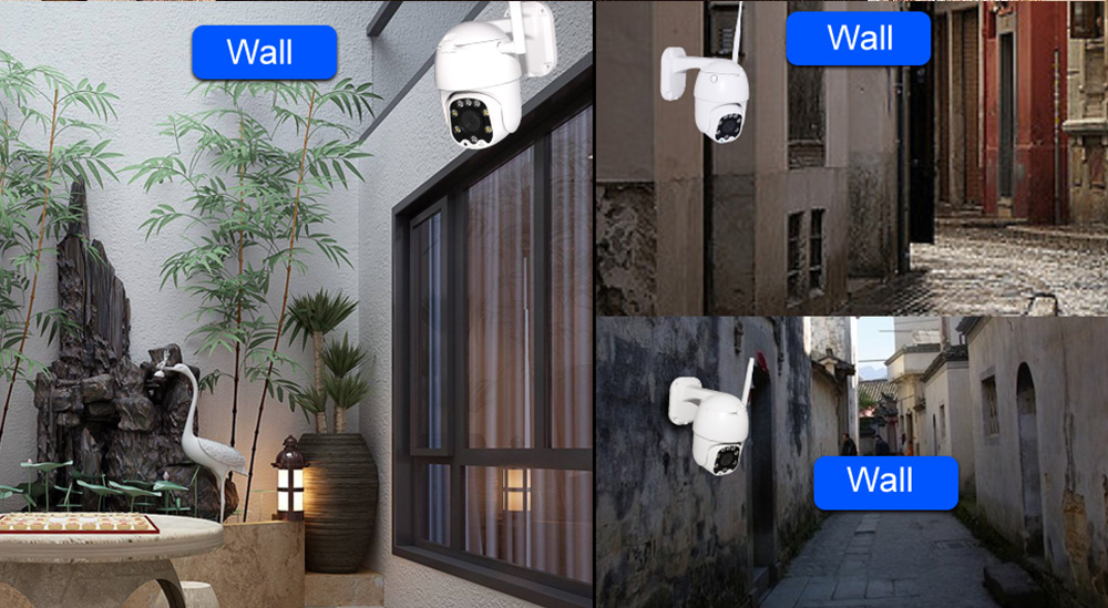 2.5 inch Dome PTZ 4X Zoom WiFi Cameras with Microphone and TF Card Slot CCTV Camera