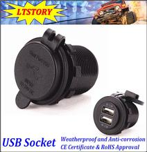 4.2A Dual Socket 2 USB Port Cigarette Lighter Splitter