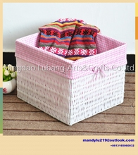 Large canvas foldable drawstring closure laundry basket ,storage toys hamper