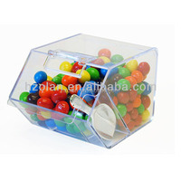 clear acrylic food container/wholesale retail food dispenser box/candy dispenser box