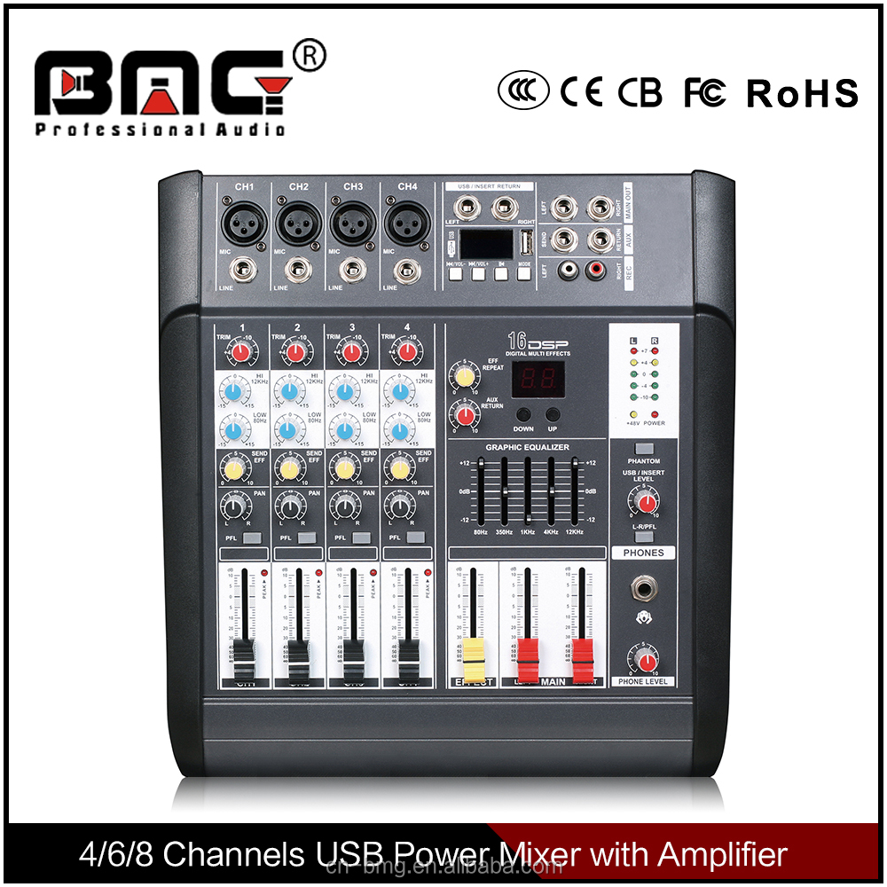 BMG New Design Battery Powered Audio Mixer with phantom power