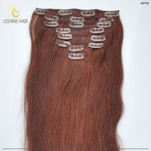 "Popular Best Selling Factory Wholesale Price Tangle Shedding Free 34"" virgin malaysian hair clip in"