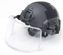 Black Worm Dial Liner Lux Kit FAST Maritime Bulletproof Helmet With Visor Shield Skeleton Mount Bullet Proof Ballistic Helmet