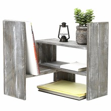 Office supply new product Gray Wood Adjustable Desktop Bookshelves