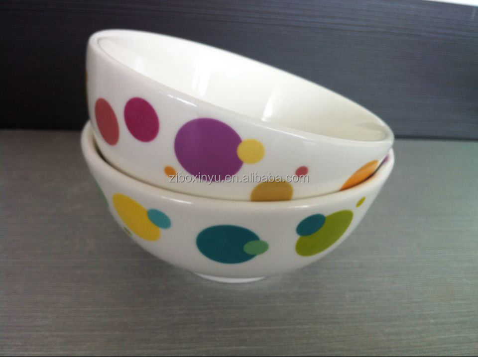 ceramic bowl with decal