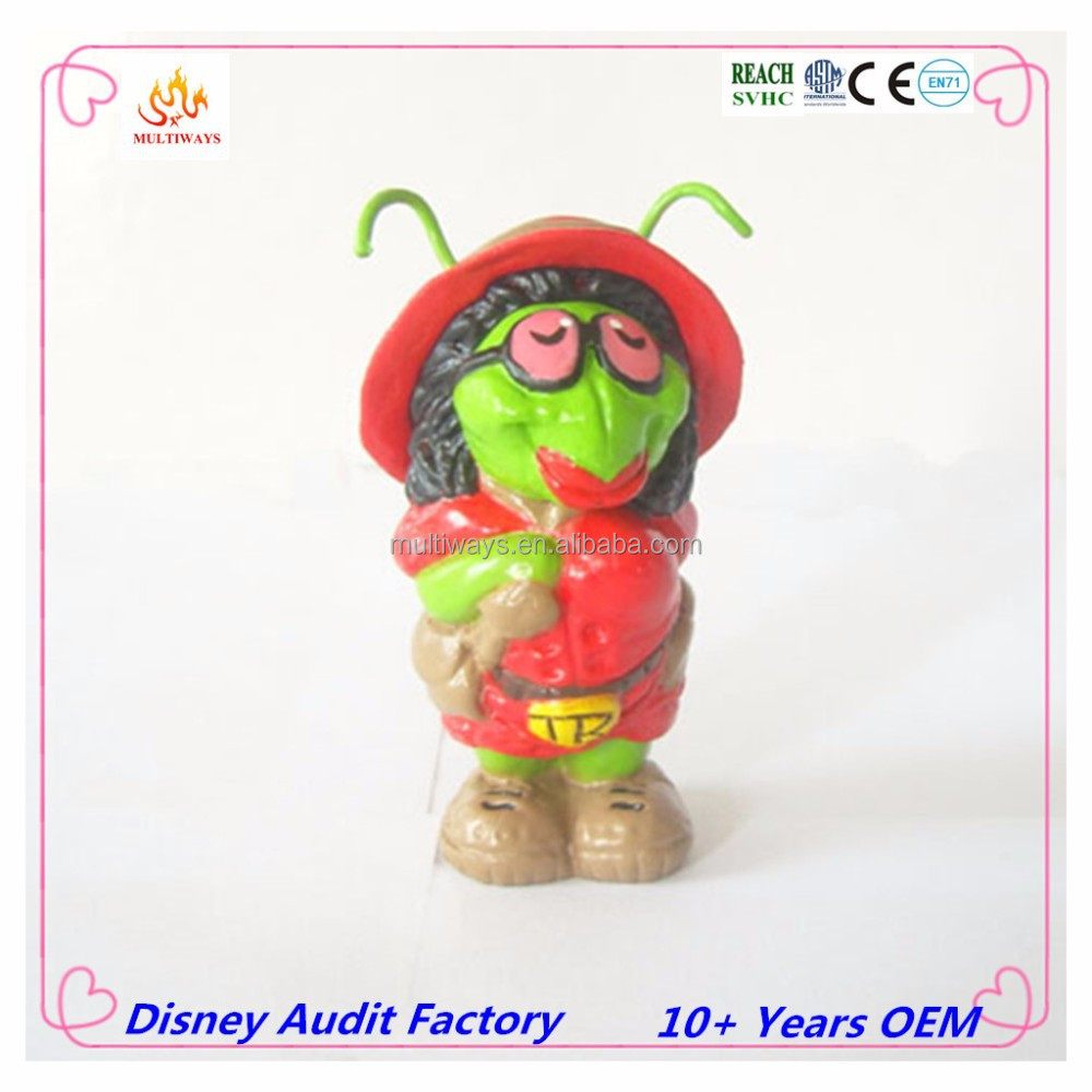 Multi-color eco-friendly plastic cartoon figure collection toys