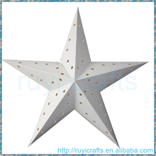 Wholesale custom 60cm indoor and outdoor white traditional Christmas hanging decoration Indian paper star lantern