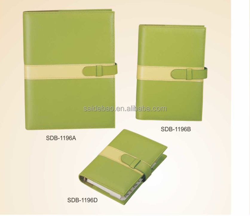 High quality leather book cover from professional factory,Luxury Business notebook with customized logo