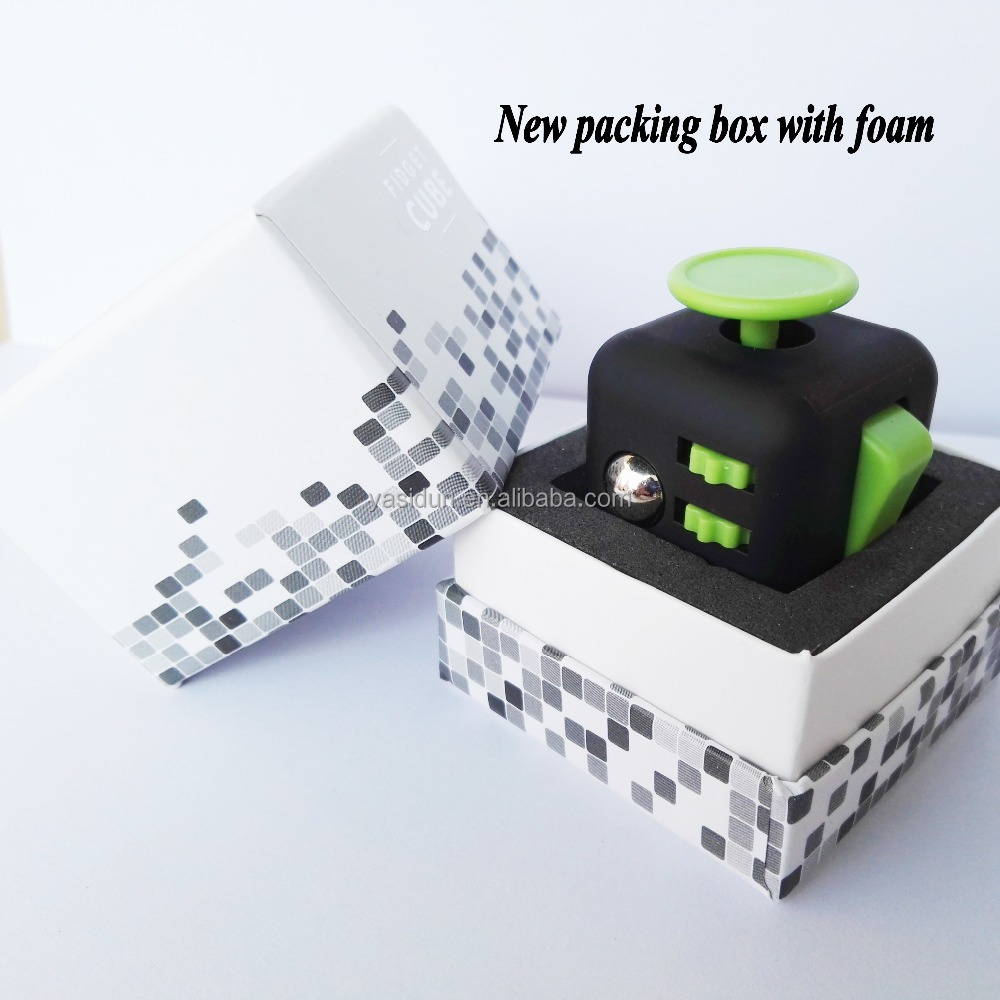 Good quality fidget cubes Christmas gift stress anxiety release cube toys 3.3cm magic fidget cube