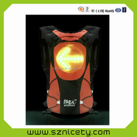 LED safety warning backpack/school bag/ knapsack for outdoor cycling YKBB0521