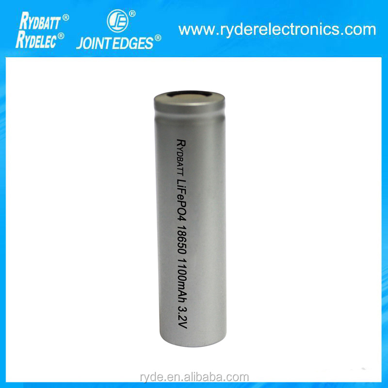 lifepo4 cylindrical cells 18650 3.2v lithium battery 1100mAh