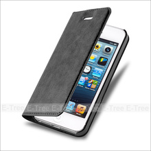 Guangzhou Flip Stand Magnet PU Leather Cover Wallet Case For iPhone 5 5s