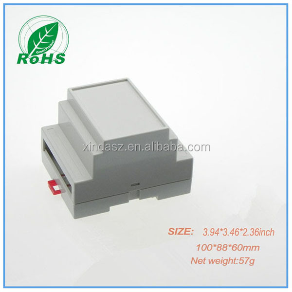PLC plastic junction housing enclosure 115*90*72mm din rail abs enclosure din rail electronic junction box