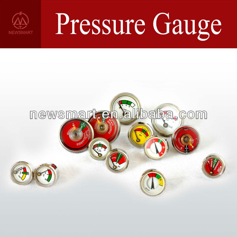 Pressure Gauge for Fire Extinguishers | Bourdon Tube Pressure Gauge | Diaphragm Pressure Gauge