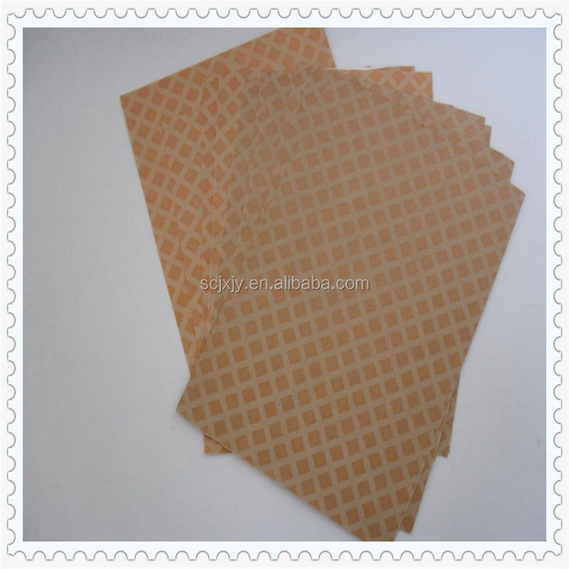 high quality- electrical insulation Diamond pattern resin coated paper IT has pass the UL system