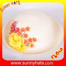 SHL-1057 Sunny hat factory wholesale children's best quality straw beach hat with wide brim.