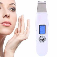 2017 Professional Hand Ultrasonic Face Cleaner Microcurrent Ultrasonic Skin Scrubber Portable Ultrasonic Skin Scrubber Machine