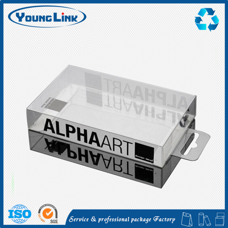 Clear tube plastic box with sliding lid