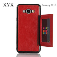 attractive appearance back slot design low price china mobile phone cover for samsung galaxy a710