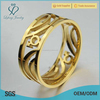 Gold justeel jewellery stainless steel ring, gay engagement puzzle rings
