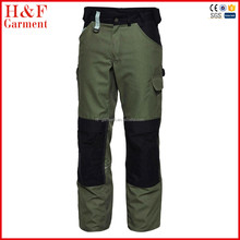 Fashion new design work trousers with knee pad, oil resistant work pants with knee pads