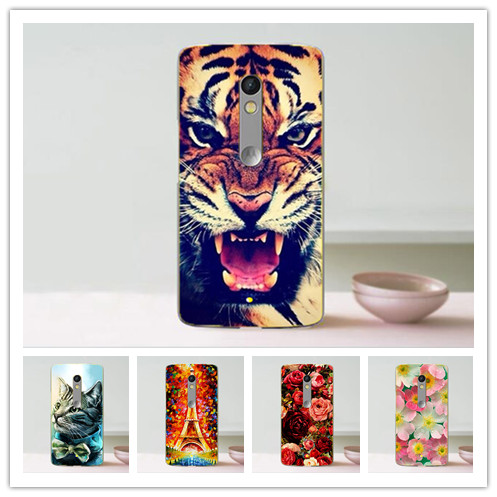 For Moto X Play case,14 Patterns Painting Colored Hard PC cover case for Motorola X Play Phone Sheer Bags with tiger owl flowers