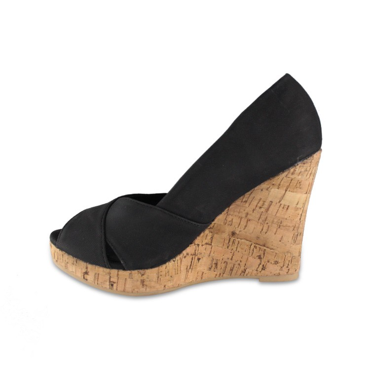 Women's Suede Cutout Peep Toe high heels shoes Open on the toes