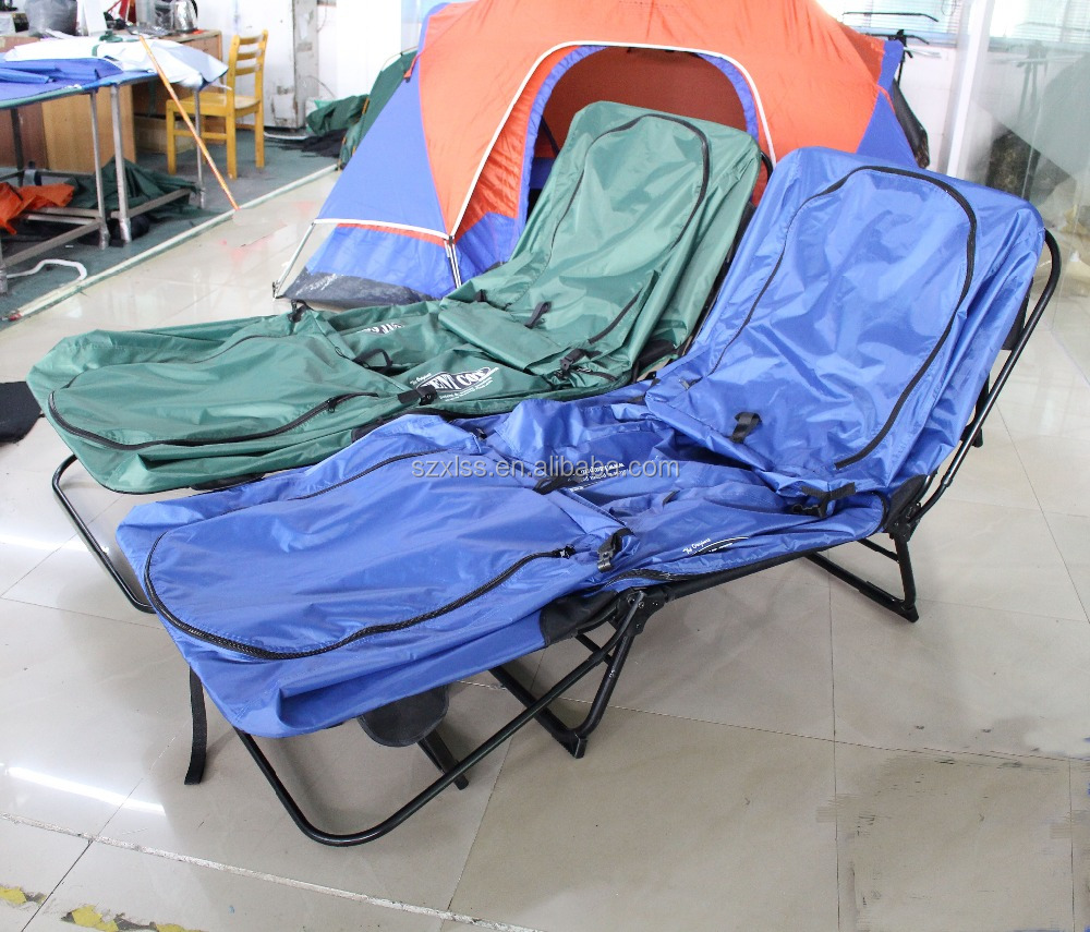 China alibaba high quality canvas double camping cot sun roof tent
