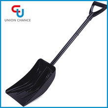 Europe market heavy duty plastic head and steel pole heated snow shovel
