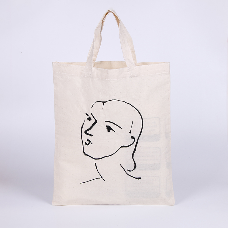 hot selling silk screen print cotton material cotton tote bag for shopping