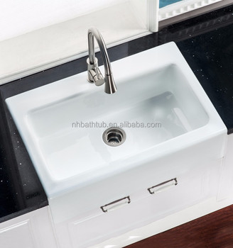 Chinese Hebei factory cast iron white kitchen sinks for sale