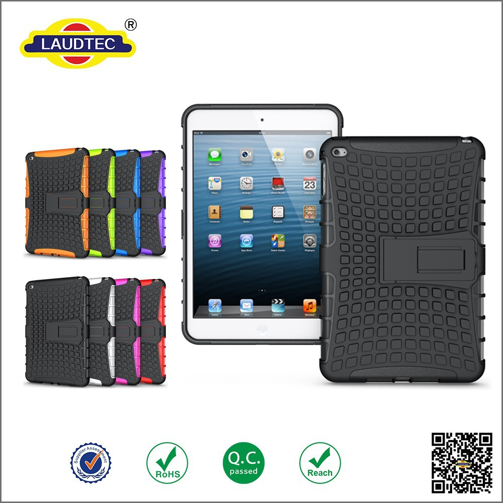 2015 Hot Selling Mobile Phone Case Shockproof 2 in 1 Silicone PC Case Shockproof Tablet Case For iPad mini 4