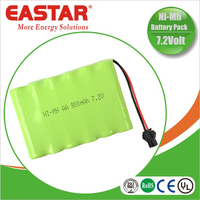 7.2v aaa 800mah ni-mh battery pack for LED and portable dvd player