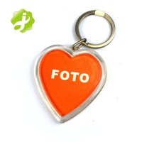 Promotion cheap heart shaped custom acrylic keychain