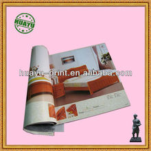 wooden bed catalogue offset printing with leather cover
