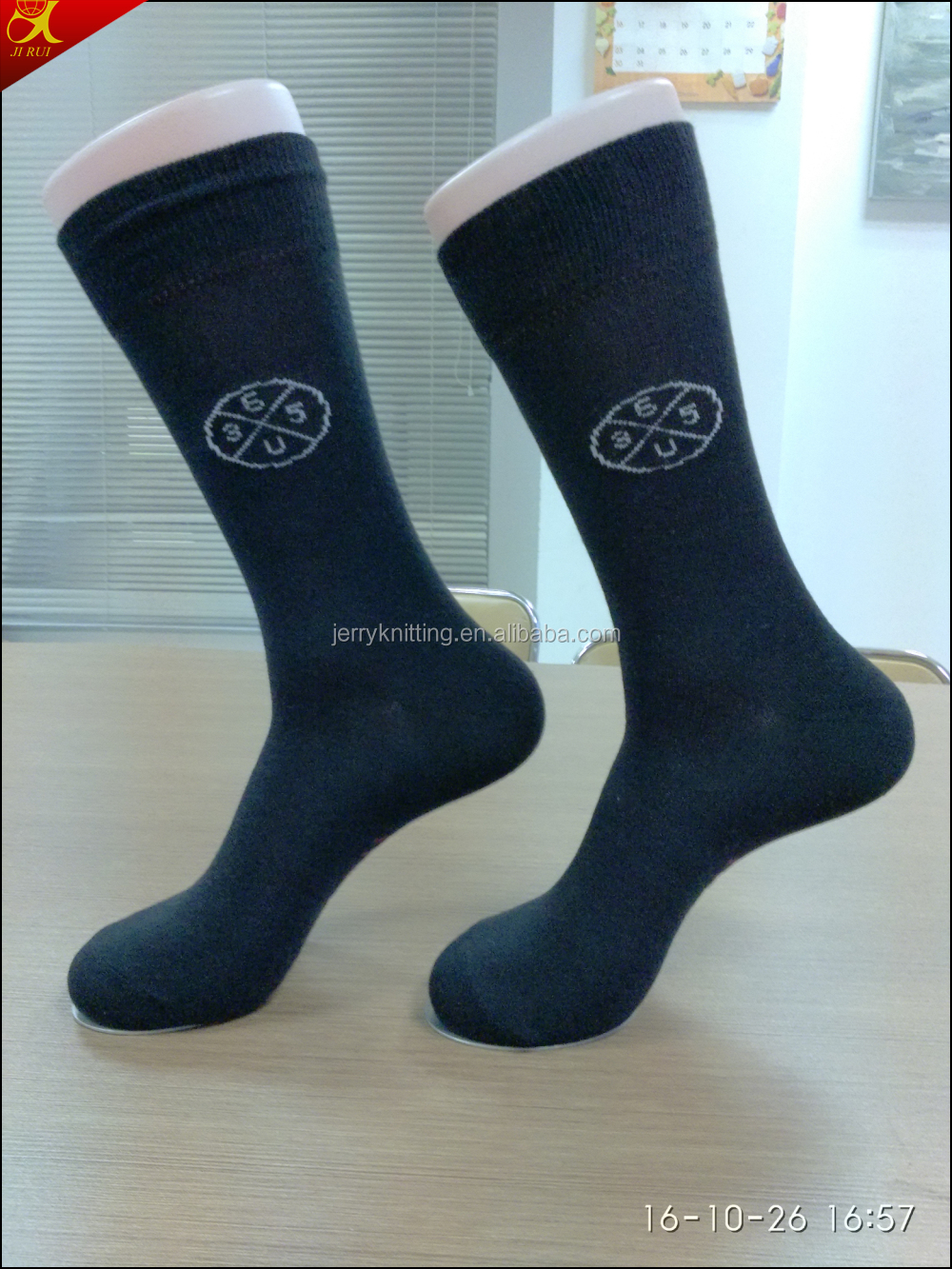 High quality cotton bamboo mens colorful dress socks hosiery black dress socks with logo