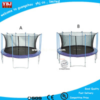 heavy duty trampoline, 15ft outdoor trampoline safety enclosure net