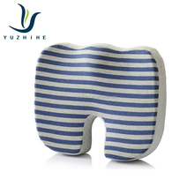 2018 new design hot sale stripe cotton fabric memory foam chair seat cushion