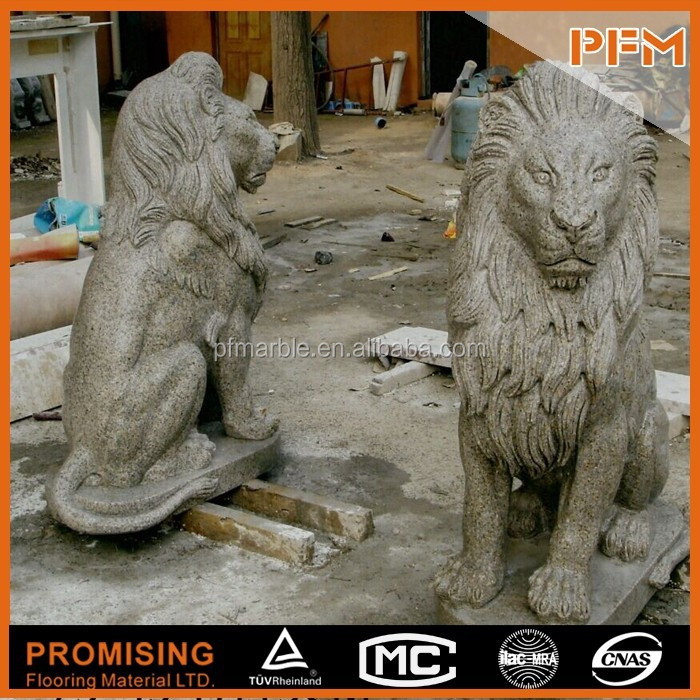 Available natural marble granite stone best factory price beautiful hand carved black perleto lion sculpture