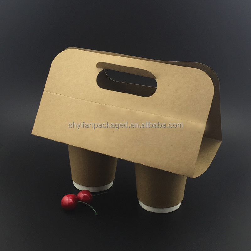 Take away Disposable Kraft Paper Coffee Cup Drink Carrier, coffee paper cup holder